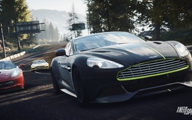 Обои пейзаж, Дорога, Aston Martin Vanquish, Mercedes Sls Amg, Corvette C7, Need For Speed : Rivals