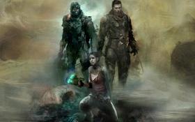 Обои девушка, солдаты, броня, плазменный резак, NeoGAF, Джон Карвер, Dead Space: Liberation