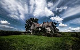 Картинка Sky, Abandoned Farmhouse, Dilapidated Drama, Talbot Trail