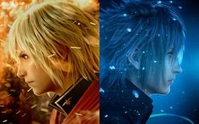 Обои вода, огни, огонь, Square Enix, бойцы, Ace, Final Fantasy Type-0 HD