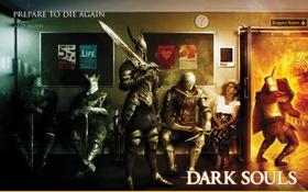 Обои Боль, Dark, Dark Souls, Knight, Souls, Страдания, Hospital