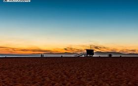 Картинка пляж, рассвет, Beach, Sunset, Manhattan