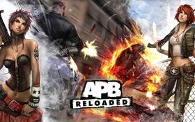 Обои огонь, пушки, APB, APB: Reloaded