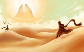 Картинка пустыня, игра, путешествие, journey