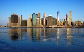 Обои небоскреб, дома, Нью-Йорк, США, Манхэттен