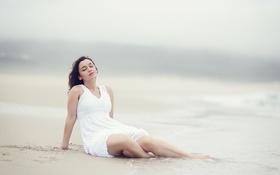 Картинка море, девушка, настроение