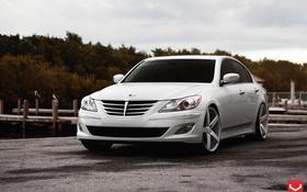 Обои Wheels, Hyundai, Vossen, Genesis