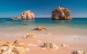 Обои камни, скалы, вода, море