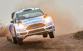 Обои Ford, Пыль, Прыжок, Форд, Фары, WRC, Rally