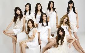Картинка Music, Asian, White, Girls, Beauty, Background, SNSD