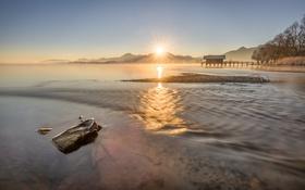 Обои Germany, Bavaria, Mountain Star, lake Chiemsee