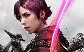 Обои inFAMOUS First Light, neon, Abigail Walker, Infamous: Second Son, dlc