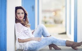 Картинка сапожки, джинсы, Lidia Burell