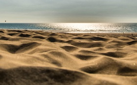 Обои песок, пляж, лето, отдых, горизонт