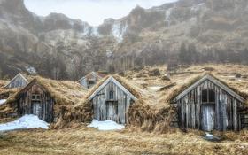 Обои Iceland, Village, Abandoned