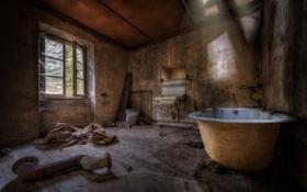 Обои комната, ванна, окно