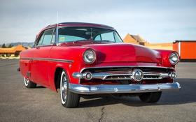 Обои красный, Ford, 1954, передок