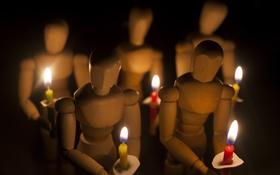 Обои фон, свечи, фигуры