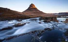 Обои Iceland, Kirkjufell, long exposure