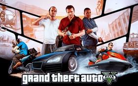 Картинка Michael, Grand Theft Auto V, Rockstar Games, Franklin, Trevor, GTA Online