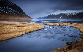 Картинка река, горы, природа