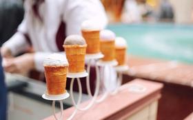 Картинка мороженое, стаканчики, сливочное