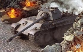 Обои танк, танки, Germany, WoT, Мир танков, Panther, tank