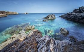 Картинка море, скалы, Испания, Cabo de Palos, Murcia