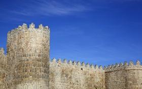 Картинка стены, памятник, крепость, Испания, средневековье, Авила
