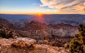 Картинка пейзаж, скалы, рассвет, Grand Canyon