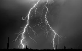 Обои небо, природа, стихия, молния