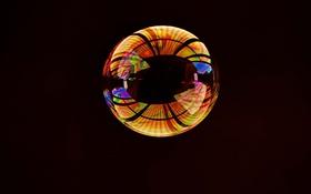 Картинка отражение, фон, блик, пузырек, оболочка