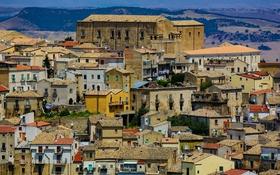 Картинка пейзаж, горы, дома, Италия, Базиликата