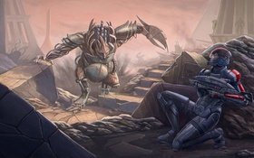 Картинка shepard, mass effect 3, Brute, tuchanka