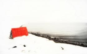 Обои пейзаж, снег, дом, iceland