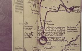 Обои карта, кольцо, цепочка
