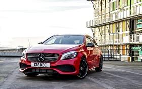 Картинка красный, Mercedes-Benz, мерседес, AMG, амг, A-class, W176