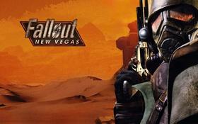 Обои пистолет, Fallout New Vegas, рейнджер, пустыня.