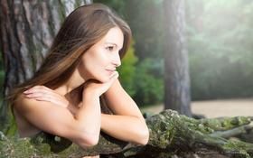 Картинка взгляд, девушка, свет, ограда, photographer, личико, Florian Radke
