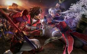 Картинка оружие, азия, битва, парни, Samurai Warriors 4