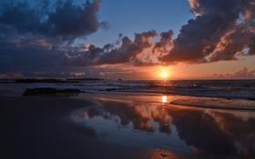 Картинка Portugal, Almagreira sunset, Sunset