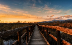 Обои path, mountain, cloud, sunset