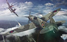 Обои небо, облака, самолет, aviation, авиа, MMO, Wargaming.net