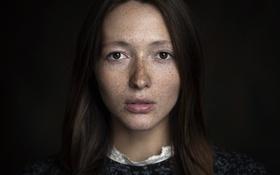 Картинка портрет, веснушки, Юля, Maxim Guselnikov, Юлия Гуровских