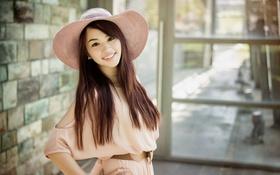 Картинка улыбка, шляпка, Rita, восточная девушка