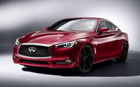 Обои Car, Infiniti, Машина, Бордовый, 2016, Q60