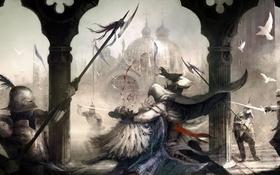 Обои assassin's creed 2, город, Ezio Auditore da Firenze, убийство, Ezio, ассасин