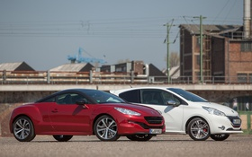Обои cars, and, 208 GTI, Peugeot, RCZ, mixed
