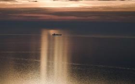 Картинка море, ночь, корабль