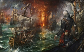 Обои art, Edward, black flag, assassins creed, kenway